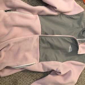 pink north's face jacket